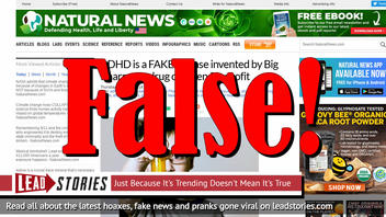 Fake News: ADHD Is NOT A FAKE Disease Invented By Big Pharma To Drug Children For Profit