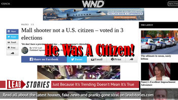 Fake News: Mall Shooter Arcan Cetin WAS a U.S. citizen - Voted LEGALLY In 3 Elections