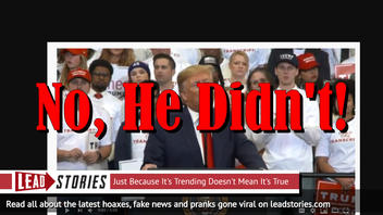 Fake News: President Trump Did NOT Reveal He Is In Fact Q