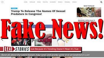 Fake News: Trump NOT To Release The Names Of Sexual Predators In Congress