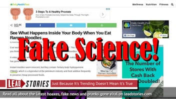 Fake News: Doctors Do NOT Warn People To Avoid Instant Noodles Due To Cancer And Stroke Risks