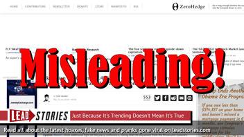 Fake News: NO Ukrainian Indictment Claims $7.4 Billion Obama-Linked Laundering, Does NOT Put Biden Group Take At $16.5 Million
