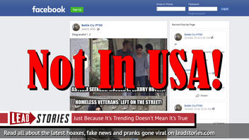 Fake News: Asylum Seekers Are NOT Housed In Luxury Hotels While Homeless Veterans Are Left On The Street