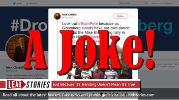 Fake News: Mike Bloomberg Campaign Did Not Make #MovesLikeBloomberg Dance Video