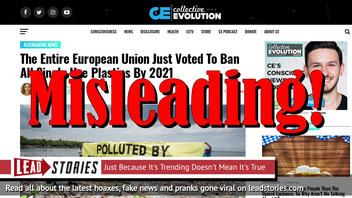Fake News: The Entire European Union Did NOT Vote To Ban All Single Use Plastics By 2021