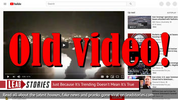 """Fake News: """"Iran Attack US Airbase in Iraq"""" Video Contains OLD Footage"""