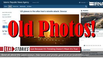 Fake News: Iranian Press Agency Claims Image Of Israel Strike On Gaza Shows Iranian Strike on US Airbase