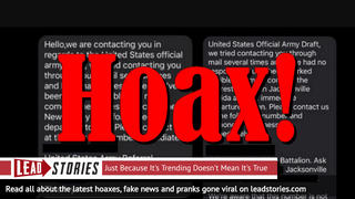 Fake News: U.S. Army Is NOT Sending Text Messages About Draft For Immediate Departure To Iran