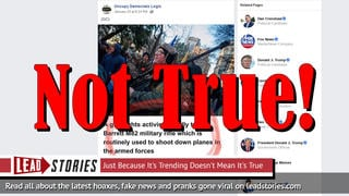 Fake News: Barrett M82 Military Rifle At Gun Rally Is NOT Routinely Used To Shoot Down Planes In The Armed Forces