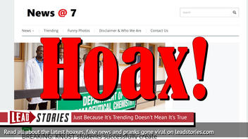 Fake News: Students In Ghana Have NOT Successfully Created Vaccine For Coronavirus; Côte d'Ivoire Patient NOT Cured