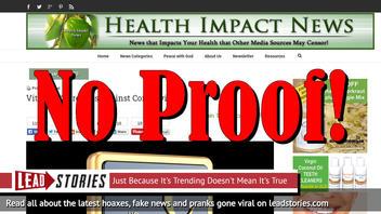 Fake News: Vitamin C Does NOT Slow Or Stop Coronavirus