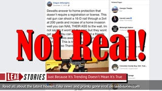 Fake News: DeWalt Has NOT Created Semi-Automatic Nail Gun