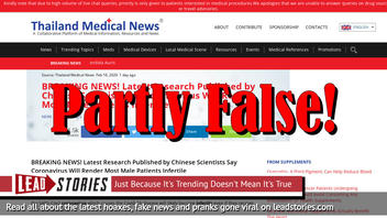 Fake News: Latest Research Published By Chinese Scientists Did NOT Say Coronavirus Will Render Most Male Patients Infertile