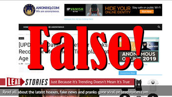 Fake News: David Rockefeller Did NOT Break Record For Most Heart Transplants At Age 101