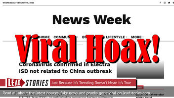 Fake News: Six Coronavirus Cases NOT Confirmed In Wichita, Kansas (Or Several Other U.S. Cities)