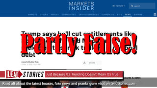 Fact Check: Trump Did NOT Say At Town Hall Forum He'll Cut Social Security And Medicare