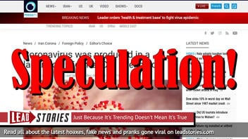 Fact Check: Former CIA Officer Selectively Quoted By Iranian Site; Did NOT Say Coronavirus Was Produced In a Lab