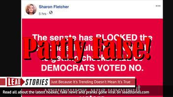 Fact Check: 60 Democrats Did NOT Vote Against Coronavirus Stimulus Bill