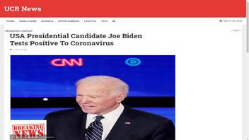 Fact Check: Joe Biden Did NOT Test Positive For Coronavirus, As African Hoax Website Claims