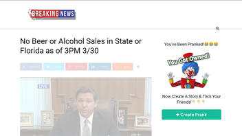Fact Check: Florida Did NOT Ban Alcohol Sales Beginning Today Due To Coronavirus