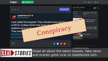 Fact Check: NYTimes Did NOT Invent Doctor Fighting Coronavirus In QAnon Conspiracy Theory