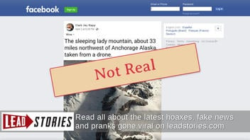 """Fact Check: Photo Of """"Sleeping Lady"""" Mt. Susitna Was NOT Taken From A Drone"""