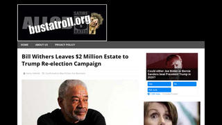 Fact Check: Bill Withers Did NOT Leave $2 Million Estate to Trump Re-election Campaign