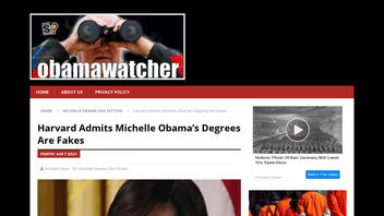 Fact Check: Harvard Did NOT Admit Michelle Obama's Degrees Are Fakes