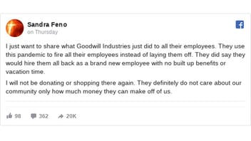 Fact Check: Goodwill Did NOT Use COVID-19 As An Excuse To Fire All Employees