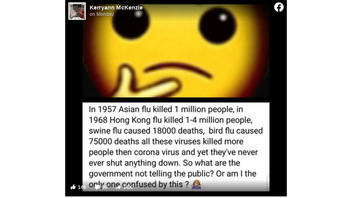Fact Check: Comparing Other Virus Death Counts To COVID-19 Does NOT Signal Government Secrets