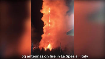 Fact Check: Antennas On Fire In La Spezia, Italy, Were NOT 5G Towers