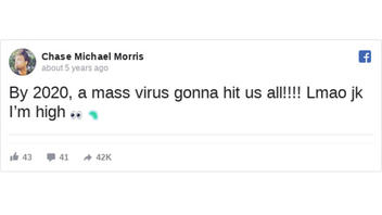 Fact Check: Chase Michael Morris Did NOT Predict The Coronavirus In A 2015 Facebook Post