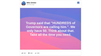 Fact Check: Trump Did NOT Say 'Hundreds Of Governors' Are Calling Him