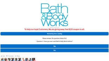 Fact Check: Bath & Body Works Is NOT Giving Away Free $150 Coupons To All