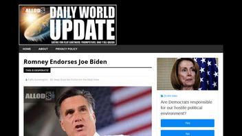 Fact Check: Mitt Romney Did NOT Endorse Joe Biden
