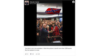 Fact Check: VP Mike Pence Did NOT Pose With GOP House Members Waving A Confederate Flag