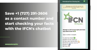 IFCN Press Release: New WhatsApp chatbot unleashes power of worldwide fact-checking organizations to fight COVID-19 misinformation on the platform