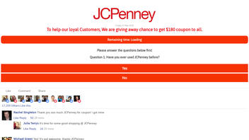 Fact Check: JC Penney Has NOT Announced Everyone Who Shares A Link Will Receive $180 Coupon