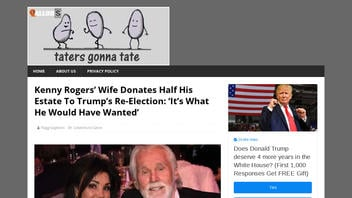 Fact Check: Kenny Rogers' Wife Did NOT Donate Half His Estate To Trump's Re-Election