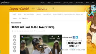 Fact Check: President Trump Did NOT Tweet 'Oldies Will Have To Die'