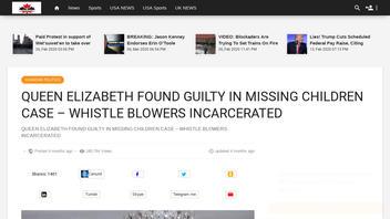 Fact Check: Queen Elizabeth Was NOT Found Guilty In Missing Children Murder Case