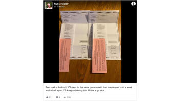 Fact Check: Photo Does NOT Show Someone Got Two Mail-In Ballots in California