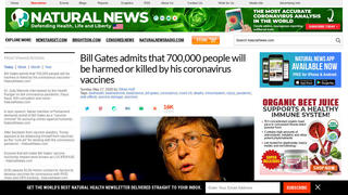 Fact Check: Bill Gates Did NOT Admit That 700,000 People Will Be Harmed Or Killed By 'His' Coronavirus Vaccines
