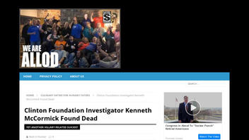 Fact Check: NO Clinton Foundation Investigator Named Kenneth McCormick Found Dead
