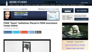 Fact Check: FEMA 'Smart' Guillotines NOT Placed In FEMA Internment Camps