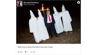 Fact Check: Photo of Donald Trump With KKK Members Is NOT Real