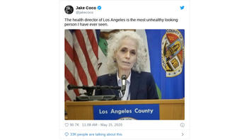 Fact Check: Los Angeles County Health Director Is NOT Pale And Sickly