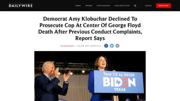 Fact Check: Amy Klobuchar Did NOT Decline To Prosecute Cop at Center Of George Floyd Death