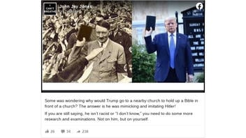 Fact Check: Photo of Hitler Holding Up Bible Similar to Trump is NOT Real