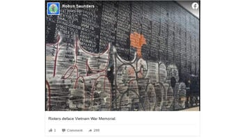 Fact Check: Vietnam Memorial NOT Defaced By Rioters During Protests Following George Floyd's Death